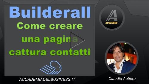 come creare una pagina cattura contatti con Builderall